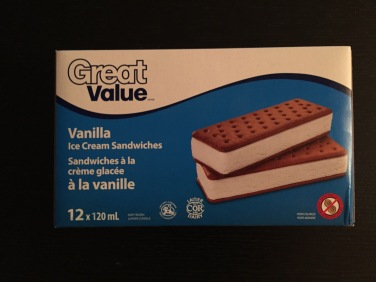 Great Value Vanilla Ice Cream Sandwiches from Walmart were the perfect fit for the project.